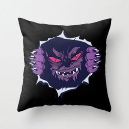 Chest Monster Throw Pillow