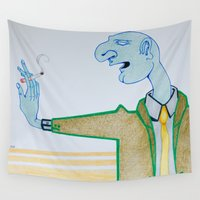 cigarette Wall Tapestries featuring Cigarette by Grant Czuj