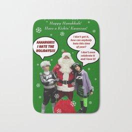 Danny Phantom Christmas and holiday card Bath Mat