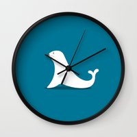 seal Wall Clocks featuring SEAL by Seokhyun Shim