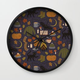 Autumn Nights Wall Clock