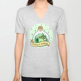 Green Snake In The Bottle Unisex V-Neck