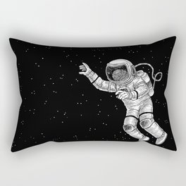 Astronaut in the outer space Rectangular Pillow