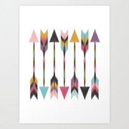 Bohemian Arrows Art Print
