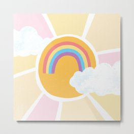 Sunshine and Rainbows Dreamy Sky Metal Print