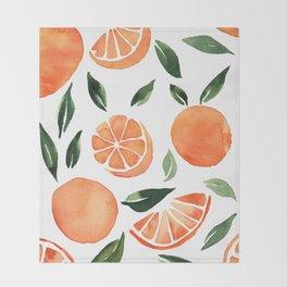 Summer oranges Throw Blanket