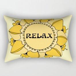 Relax Nouveau Golden Sun Mandala Rectangular Pillow