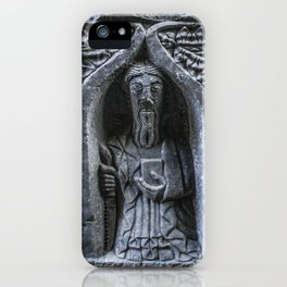 Travel to Ireland: A Monk's Tomb iPhone Case