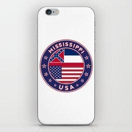 Mississippi, USA States, Mississippi t-shirt, Mississippi sticker, circle iPhone Skin
