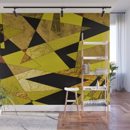 Black, Gold & Copper Shards Wall Mural