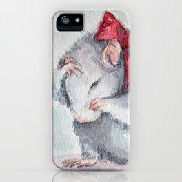 Rat bow iPhone Case