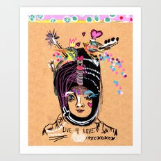 LIVE FOR LOVE Art Print