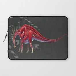 Amargasaurus Muscle Study Laptop Sleeve