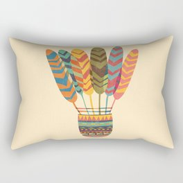 Rustic shuttlecock Rectangular Pillow