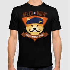 Hello wow, Omelette du Fromage So Much SMALL Black Mens Fitted Tee