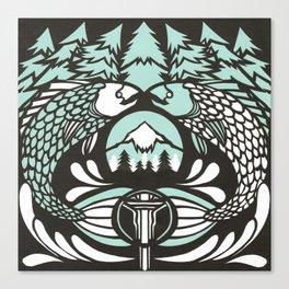 Astrology Northwest: Pisces Canvas Print