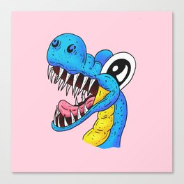 Harry the dog dinosaur, waiting for you to give him a bone! Canvas Print