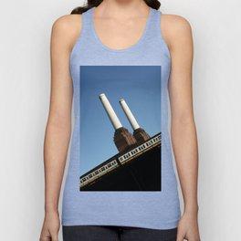 Chimneys, Battersea Power Station, London, England Unisex Tank Top