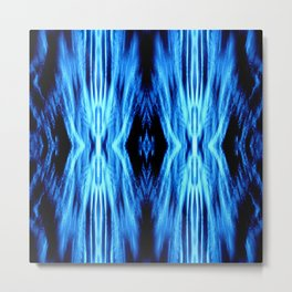 Electric Blue Abstract Metal Print