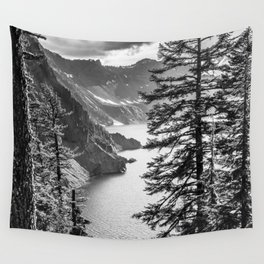 Forest Lake Retreat - Crater Lake Wall Tapestry