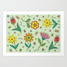 Surreal Flowers Art Print
