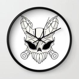 Corrupt Chaos Skull Wall Clock