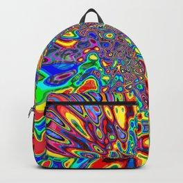 Digital Paint Pour Backpack