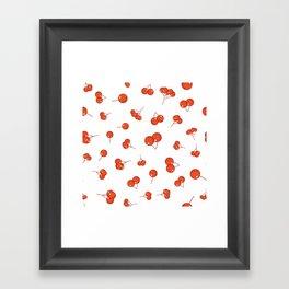 Cherry pattern Framed Art Print