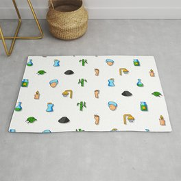Spa and Beauty Pattern Nrhd Rug