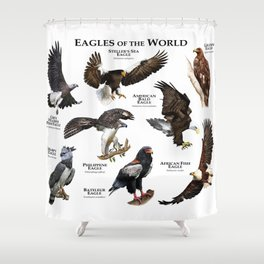 Eagles of the World Shower Curtain