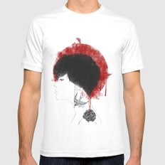 NIPPON White MEDIUM Mens Fitted Tee