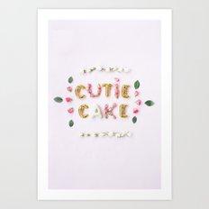 cutie cake Art Print