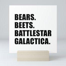 Bears. Beets. Battlestar Galactica. Mini Art Print
