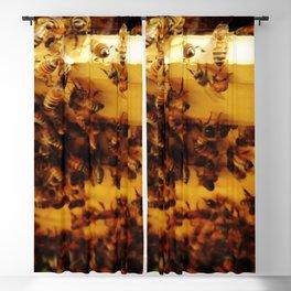 Golden Honeybees Blackout Curtain