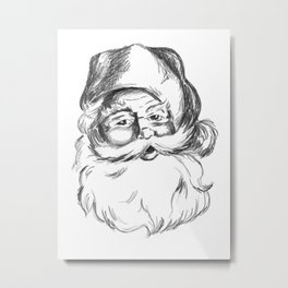 Jolly St. Nick Metal Print