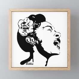 SPECIAL GIFTS OF AN AMERICAN FEMALE BLUES AND JAZZ SINGER FOM MONOFACES IN 2021 Framed Mini Art Print