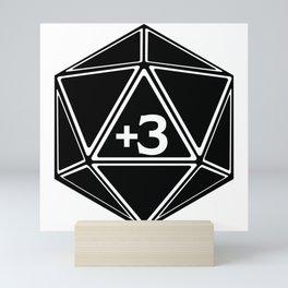 D20 Plus 3 Bonus to Everything Mini Art Print