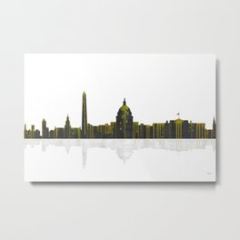 Washington DC Skyline BW 1 Metal Print