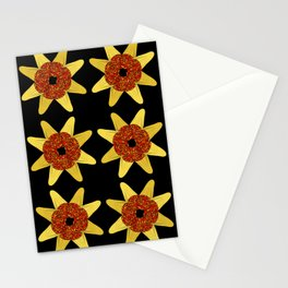 Golden Flower Of Missiles Stationery Cards