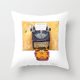 The Great Catsby. Throw Pillow