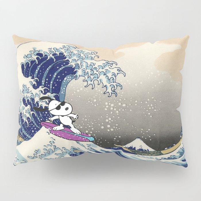 Snoopy and Hokusai Pillow Sham