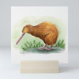 Kiwi - NZ bird watercolor Mini Art Print