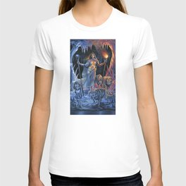 Two of Wands - Woman & Wolves T-shirt