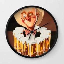 Vintage Beer Poster Wall Clock