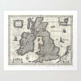 Map of the British Isles - 1631 Art Print