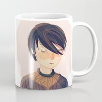 arya Mugs featuring There Is Only One Thing We Say To Death by Nan Lawson