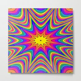 Colorful Rainbow star Metal Print