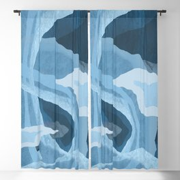Shapes and Layers no.24 - Blues Blackout Curtain