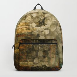 """Abstract golden river pebbles"" Backpack"