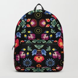 Fiesta Folk Black #society6 #folk Backpack
